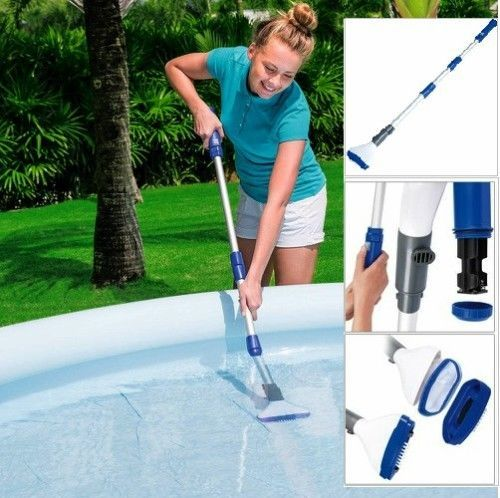 Swimming Pool Vacuum Cleaner Cordless Ergonomic Handle Kit Spa Electric Tool #Bestway