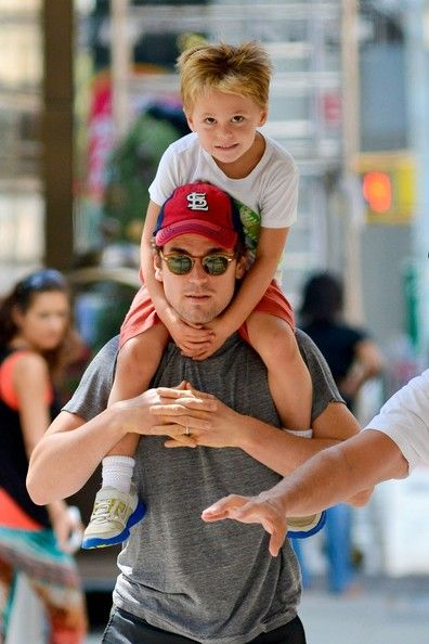 "White Collar"" star Matt Bomer is spotted out for a stroll with his partner Simon Halls and their kids Henry, Walker, and Kit in Soho, New York City. The 34 year old actor publicly revealed he was gay in February of this year and later revealed he had three sons via surrogacy with his partner Halls, who works as a Hollywood publicist."