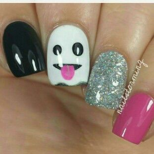 Image via We Heart It https://weheartit.com/entry/144078360 #art #design #ghost #Halloween #holiday #nail