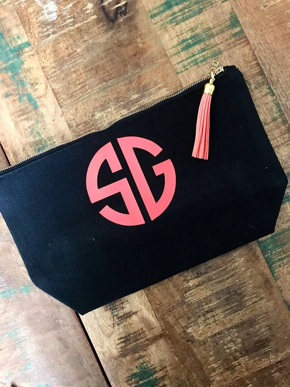Personalized makeup bag bridesmaid gift teacher gift makeup