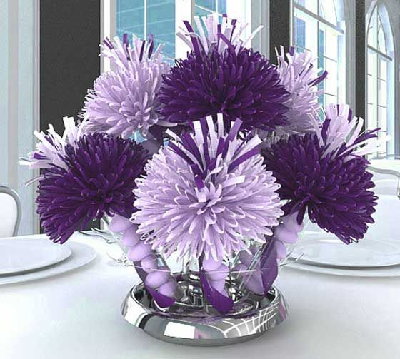 Purple Bridal Shower Decorations | ... Unique Shower Centerpieces and Decorations for your Shower Celebration