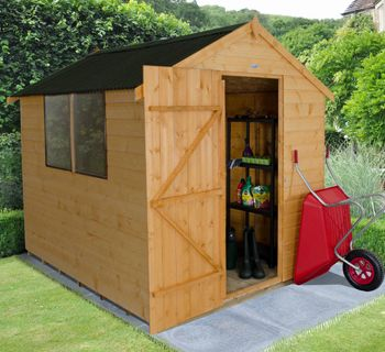 This 6x8 shed features a lightweight Onduline roof. http://www.wonkeedonkeeforestgarden.co.uk/forest-sda68onhd-apex-shiplap-dipped-8x6-hd.html