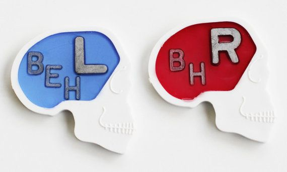1 SET Skull X-Ray Markers Right & Left in a by MeetYourMarker
