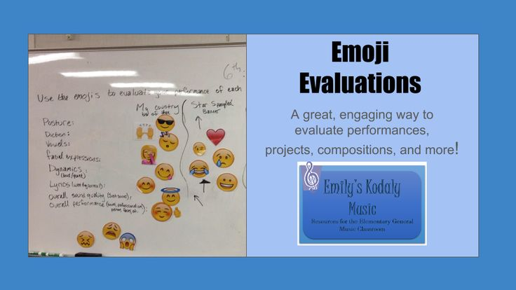 Emily's Kodaly Music: Emoji Evaluations