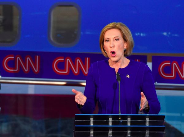 Former Hewlett-Packard CEO Carly Fiorina drew raves from Republican and conservative observers...