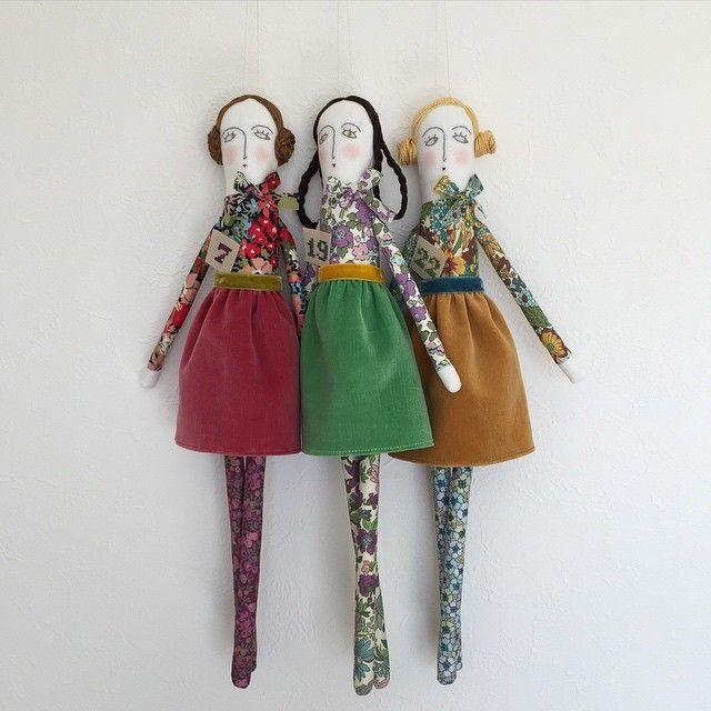 Liberty girls. #FlowersOfLiberty #liberty #libertyfabric #doll #interior #リバティ