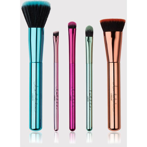 Lottie London Multi Limited Edition: Best of Brushes Collection (€32) ❤ liked on Polyvore featuring beauty products, makeup, makeup tools, makeup brushes, multi, travel kit, toiletry bag, shadow brush, purse makeup bag and make up purse