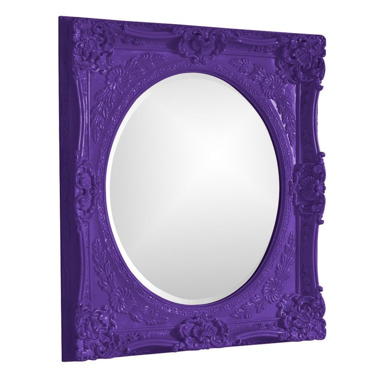 "Howard Elliott Monique Royal Purple Mirror 30"" x 34"" x 2"""