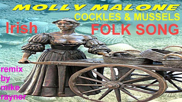 Best Folk Songs, Molly Malone, Cockles & Mussels, Irish Flute & Harp Mus...