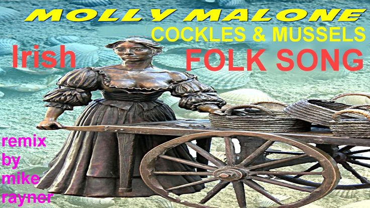 Best Folk Songs, Molly Malone, Cockles & Mussels, Irish Flute & Harp Mus...
