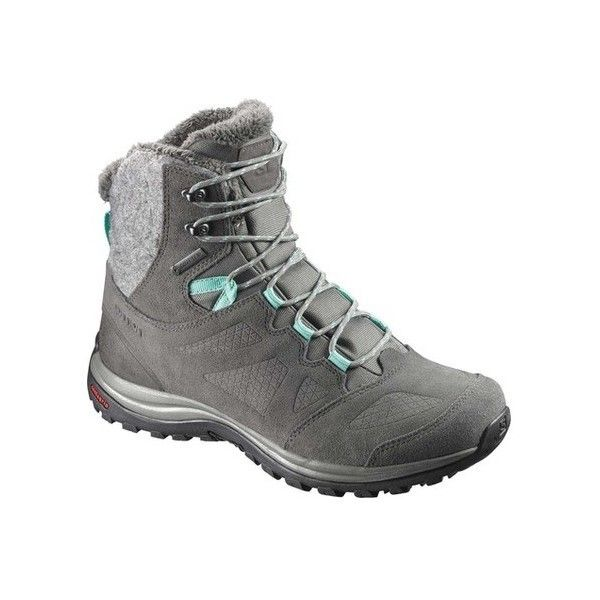 Women's Salomon Ellipse GORE-TEX Winter Boot ($150) ❤ liked on Polyvore featuring shoes, boots, casual, winter boots, goretex boots, gore tex boots, fleece lined winter boots, lace up winter boots and waterproof boots