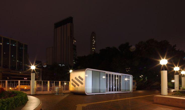 #EstudioDReam #ArquitecturaModular #DiseñoFuturista  Casa modular de 43 m2 acristalada. Más información: info@estudiodream.es