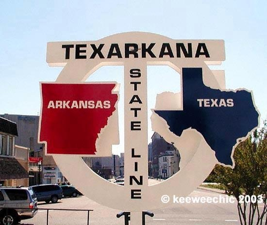 Texarkana..... 1/2 between Austin & Nashville or 1/2 between us the Grandbabies!!!!