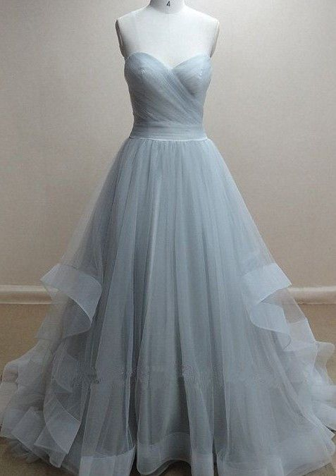 Cheap tulle prom dresses