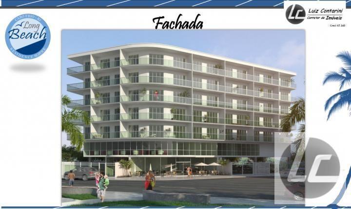 Apartamento para Venda, Cabo Frio / RJ, bairro Praia do Forte, 2 dormitórios, 1 banheiro, 1 garagem