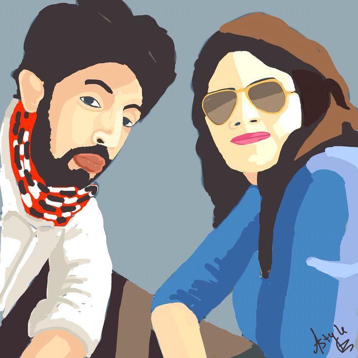 couple  #digitalart #astyleart #digitalpainting #vectorart