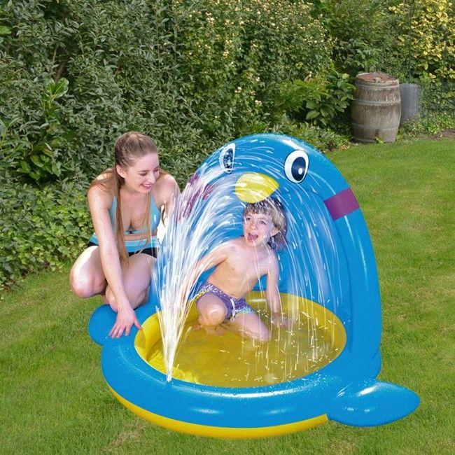 Kinderzwembadje met Zonnescherm - Kinderzwembad - Zwembaden