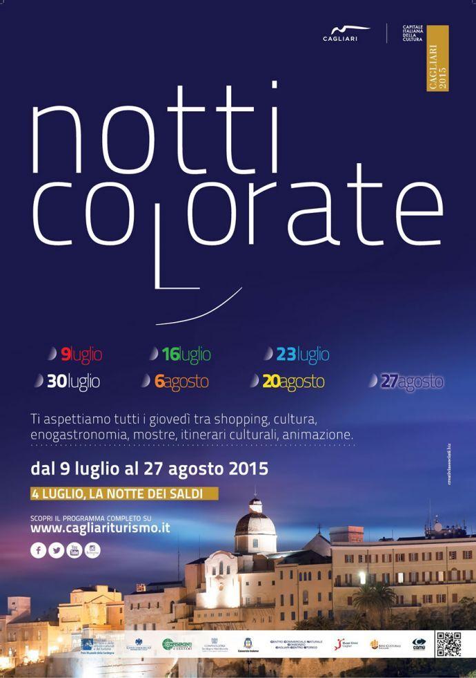 NOTTI COLORATE 2015 – LA NOTTE ARANCIO – CAGLIARI – GIOVEDI 6 AGOSTO 2015