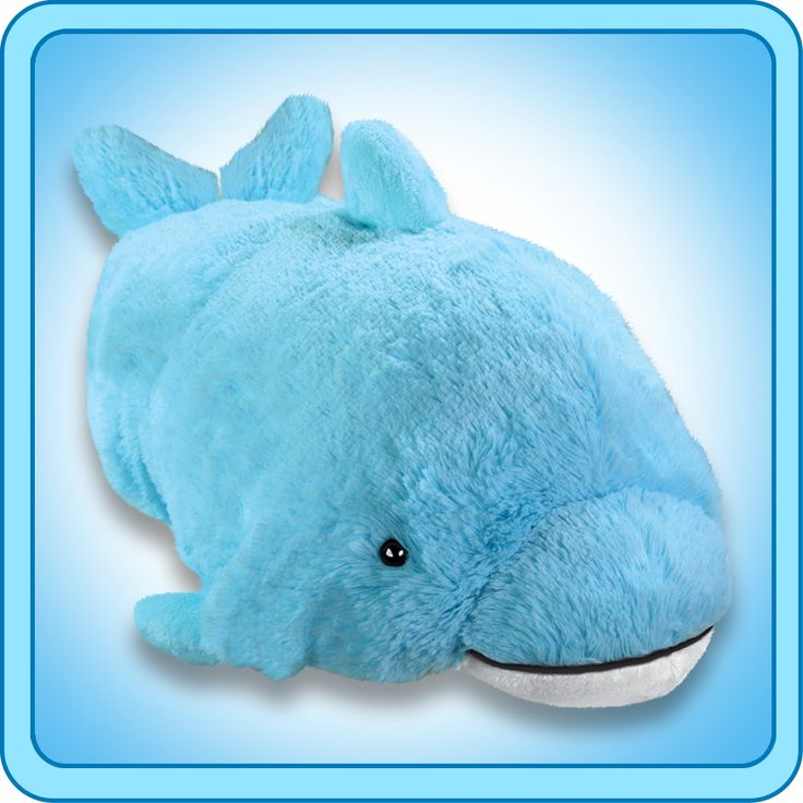 $19.99 Pillow Pets® Folding Plush :: Squeaky Dolphin - My ...