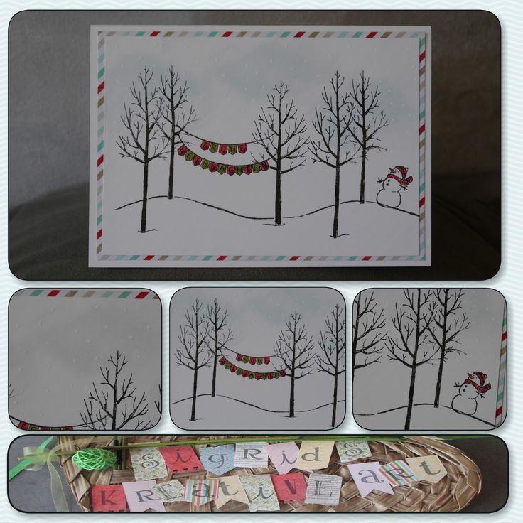"""Sigrids kreative ART: Weihnachtliche Impressionen mit dem Stempelset """"Weiße Weihnacht"""""""