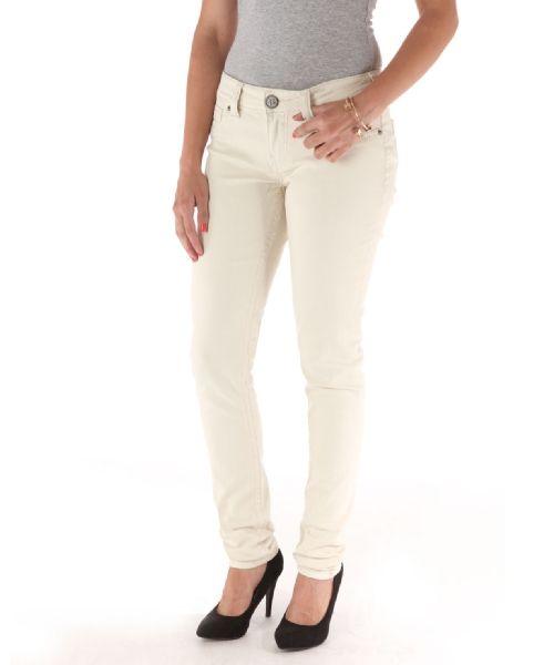 Bootlegger paradise fall ecru cream skinny jeans @Chris Munroe