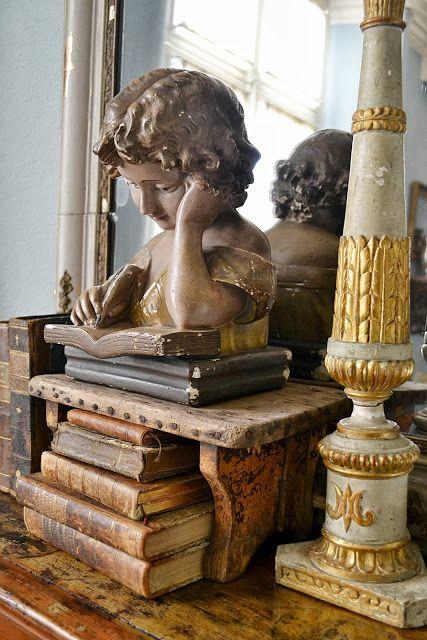 Beautiful antique book decor