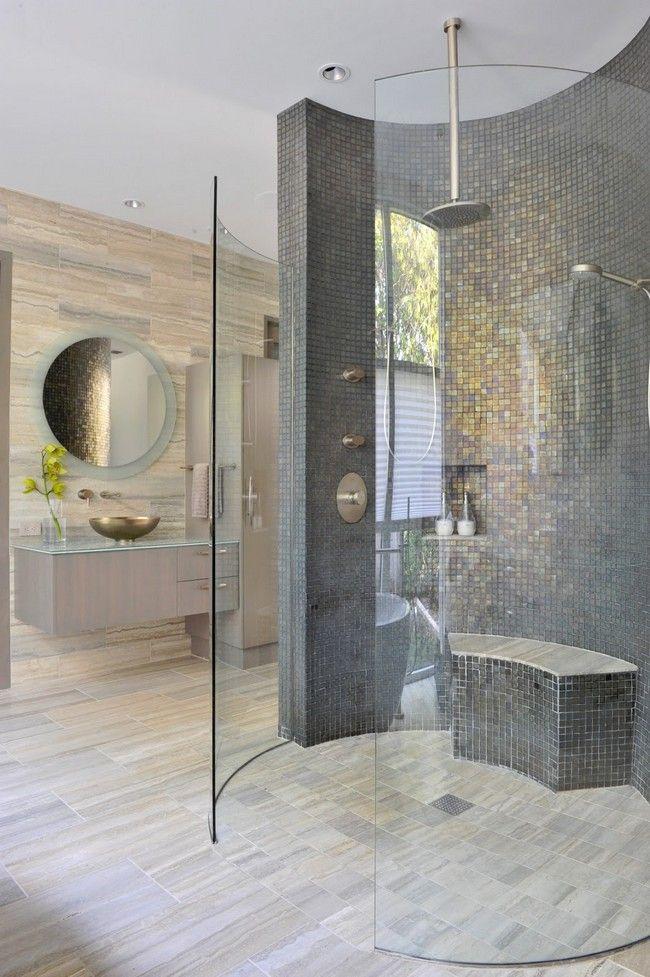 Design of the doorless walk in shower doors glasses and for Doorless glass shower
