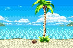 Sonic style beach background