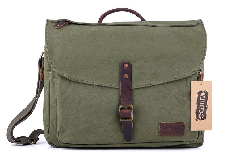 #60611 Canvas Laptop Messenger Bag