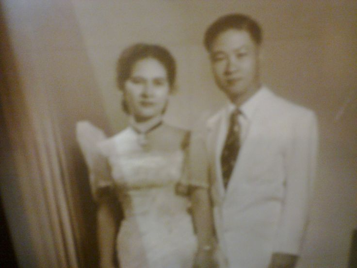 Our Auntie Sylvia Topacio Rojas and our uncle Deomedes Rojas taken in the 50s.