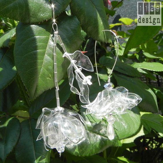 tutorial per realizzare diafani orecchini di plastica  http://1129designorecchinigioielli.blogspot.it/search/label/tutorial#