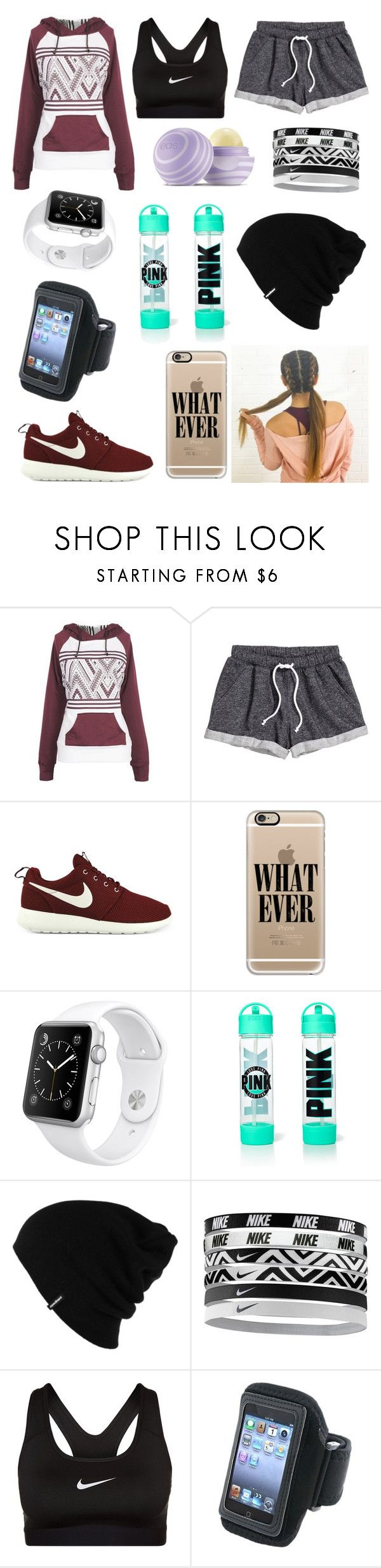 """jogging"" by justine-maheux ❤ liked on Polyvore featuring H&M, NIKE, Casetify, Apple, Patagonia and Eos"