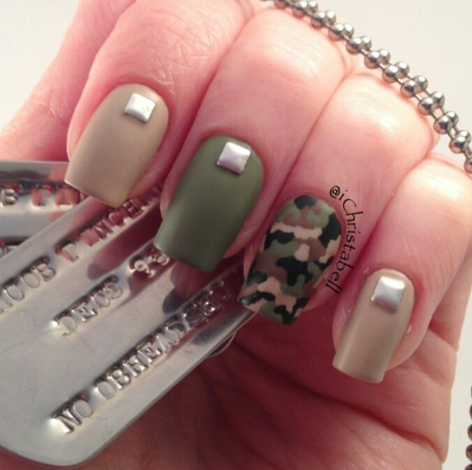 Camo nails @Samantha Sweet