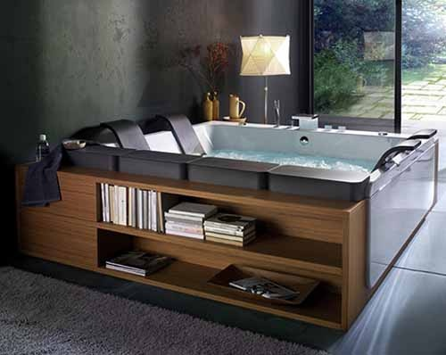 Indoor spa combined with furniture