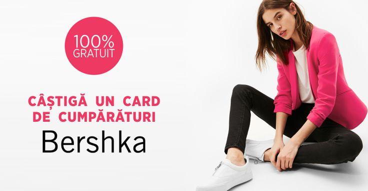 Câștigă un card de cumpărături BERSHKA, în valoare de 200 LEI!