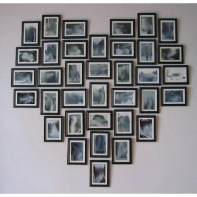 Black&White Heart Photo Collage.  <3