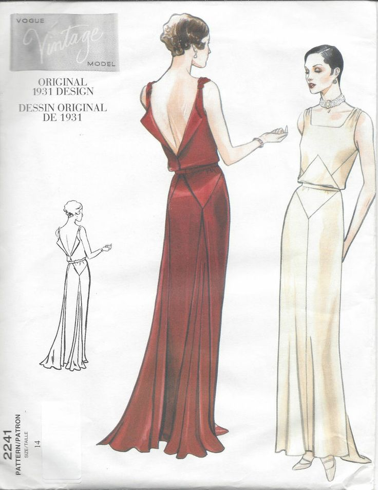 1931 Vintage Vogue Sewing Pattern B36 Dress (r825)