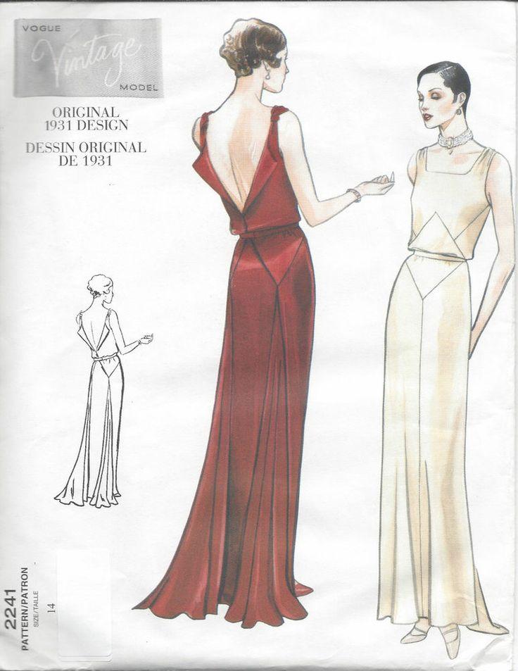 1931 Vintage VOGUE Sewing Pattern B36 DRESS (R825)  #Vogue