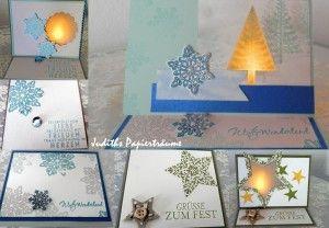 Stampin Up Karten für Elektrische Teelichter, Weihnachten