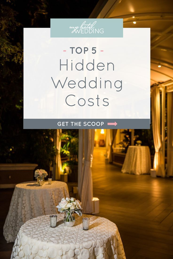 Wedding planning tips: see what the top 5 hidden wedding costs are