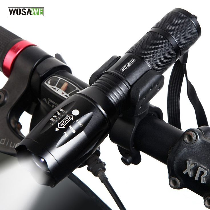 WOSAWE New Bicycle Light 1000 Lumens 5 Mode T6 LED Bike Light Front Torch Waterproof + Torch Holder Support 18650 Battery //Price: $10.39//     #shopping