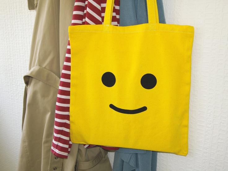 LEGO canvas tote / shopper via Etsy Mark Errington