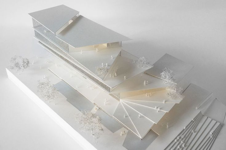 Architectural Model | filigree clad arnhem ArtA cultural center by kengo kuma