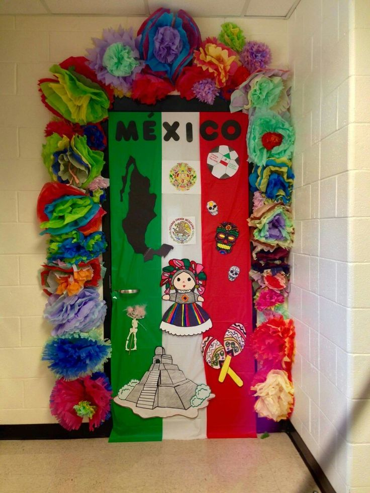 Spanish 1 Classroom Decorations ~ Hispanic heritage door decor by anita minguela classroom