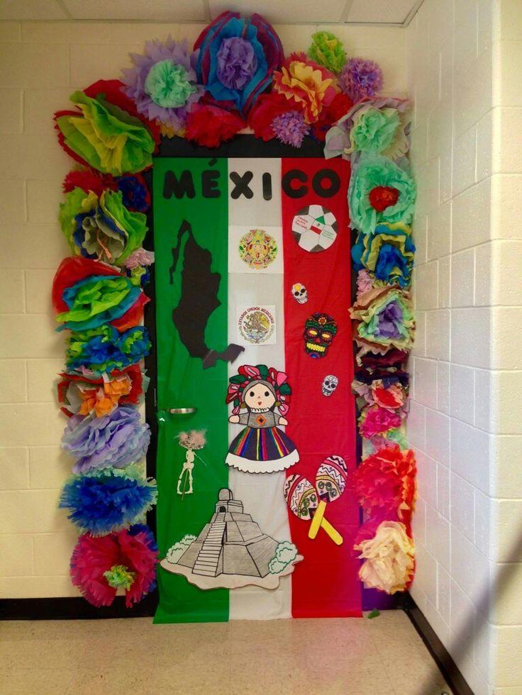 Hispanic Heritage Door Decor By Anita Minguela Classroom Decor Spanish Classroom Decor