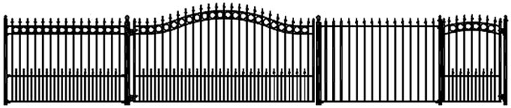 Wrought Iron Gates Designs   Bi-Parting & Swing Wrought Iron Driveway Gates
