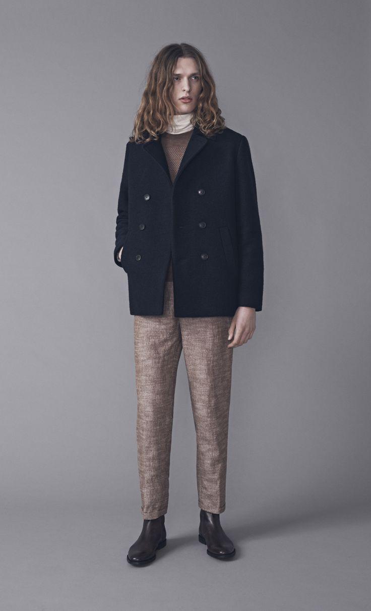 Smith Coat, Walt Polo, Mano Sweater and Dalek Trousers | Samuji Man FW15 Collection