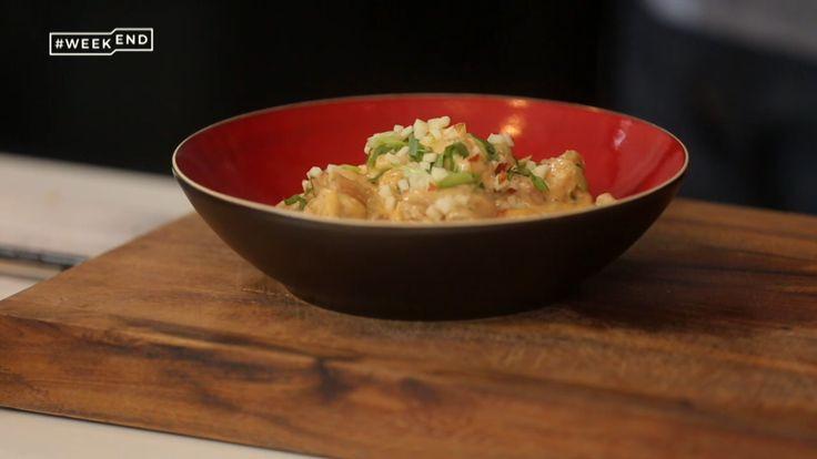 L'émission du 22 octobre Curry rouge de poulet à la pomme  Ingrédients (pour 4 pers.) : 600 g de cuisse de poulet (désossé et sans peau) 50 cl de crème de noix de coco (non sucrée) 15 cl de bouillon de volaille 2 à...