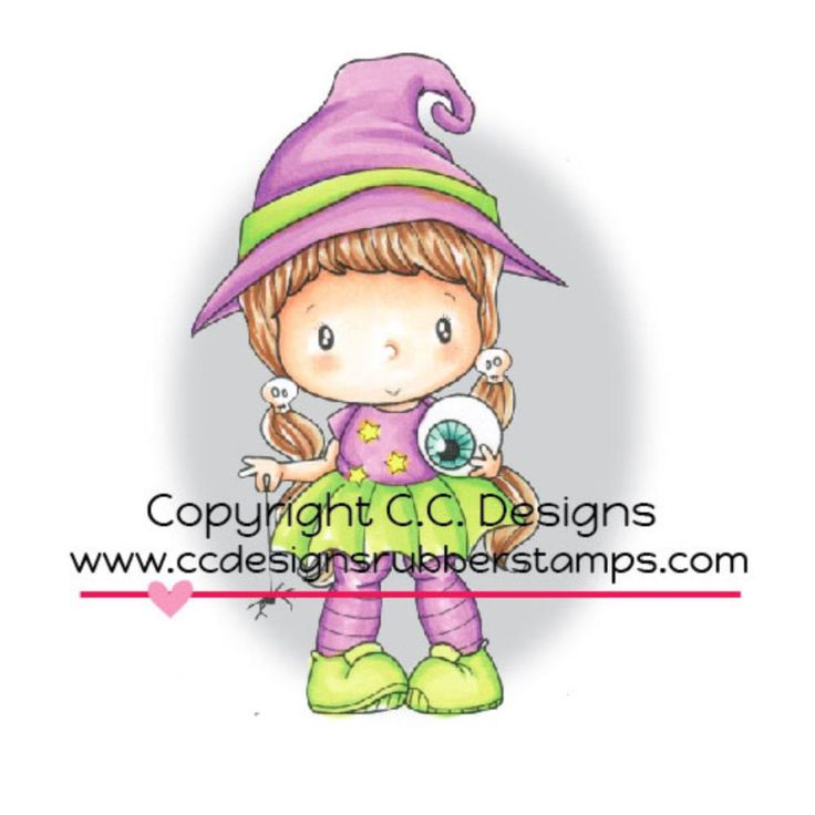 C.C. Designs Swiss Pixie Cling Stamp Little Witch Lucy www.papercrafts.ch