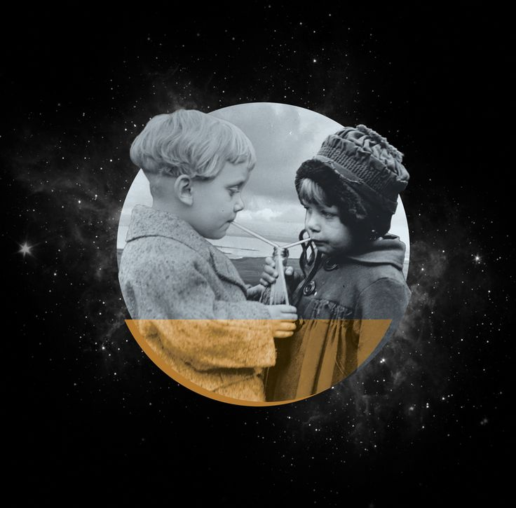 Romance  |  Two kids and stars design by Studio Lowbrow